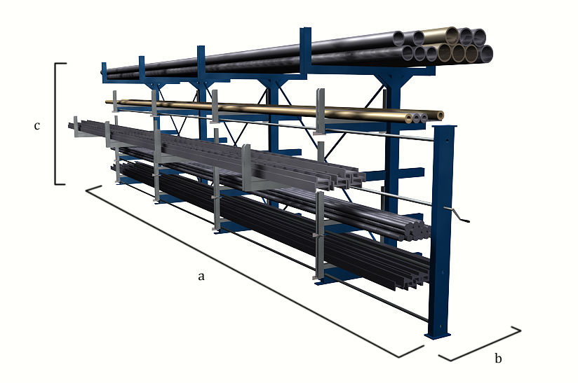 Aluminum Rack Manufacturers Mail: Roll Out Cantilever Rack - Eurostorage