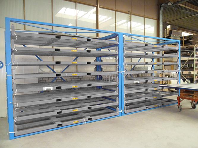 f221f28ffec562 Metal sheet forklift rack - Eurostorage   Storage sheets