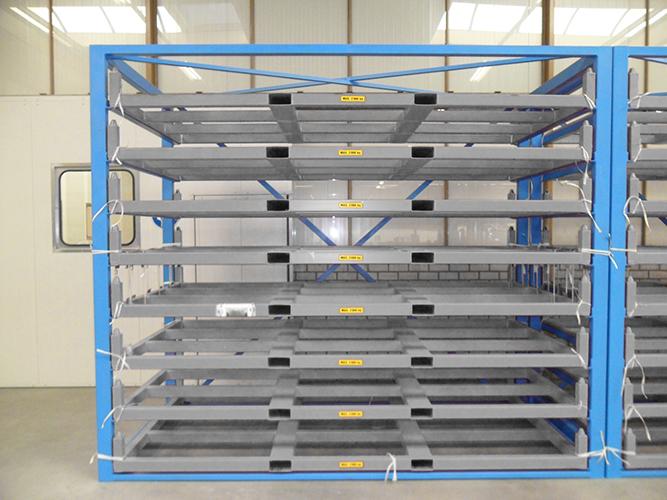 Metal Sheet Forklift Rack Eurostorage Storage Sheets