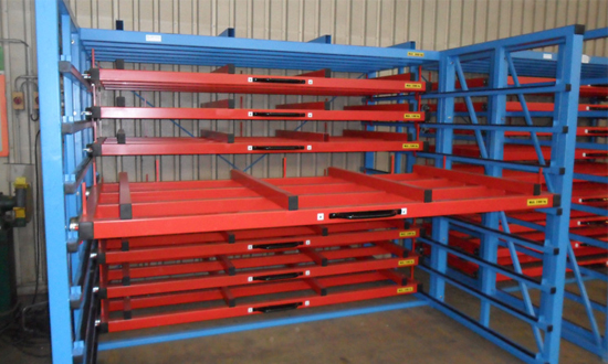 Flat Drawers For Direct Loading Or With Pallet Metal Sheet Rack