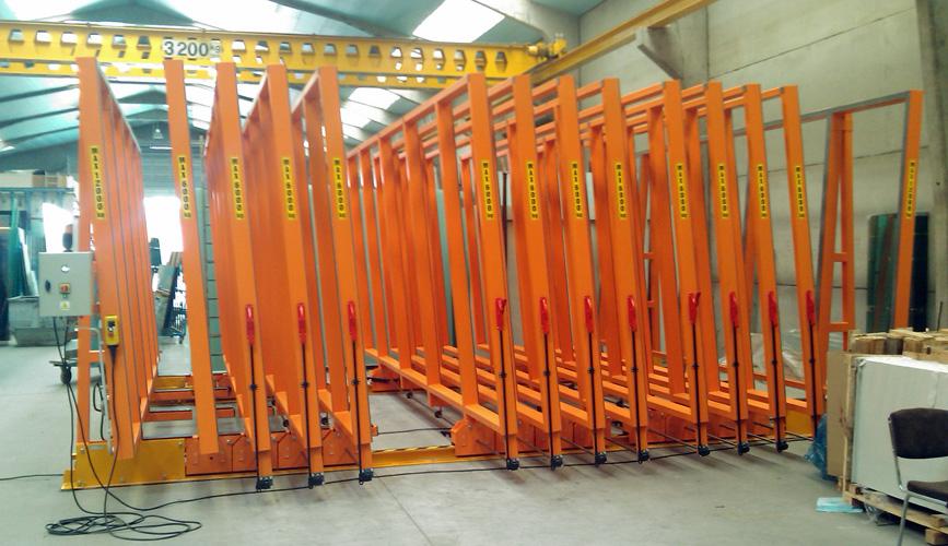 Mobile frame rack electrical - Eurostorage | Storage sheets