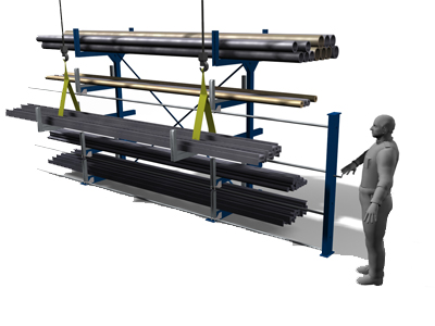 Roll out cantilever rack: handling
